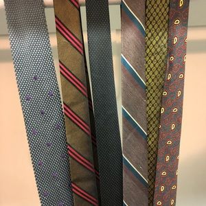 Lot of six vintage skinny ties!